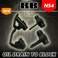 RB N54 Oil Drain to Block Interface Adapters